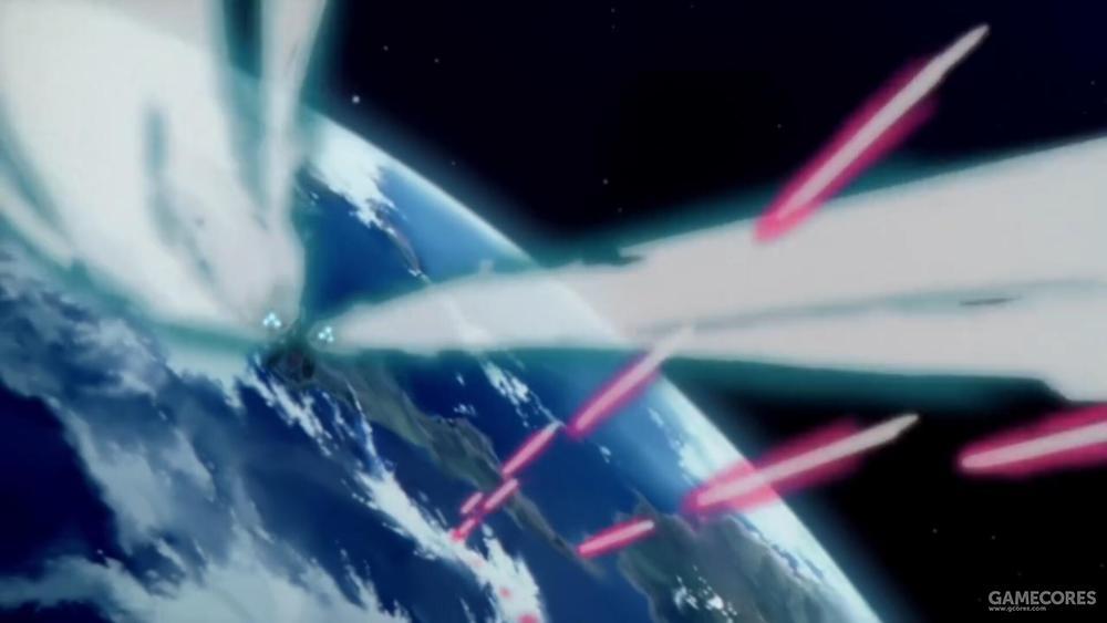 凭借其强大推力,PMX-000在低轨道上空几乎如入无人之境。受到重力和空降伞包束缚的MS部队很难对其构成威胁。