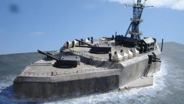 这座战列舰外形的钢筋混凝土堡垒,在太平洋战争初期的经历堪称传奇