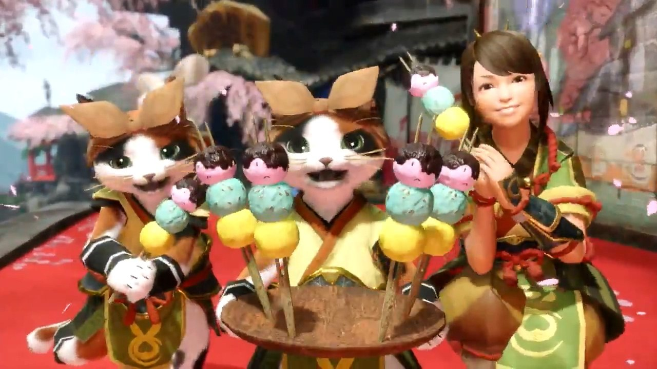 老板我没吃饱,《怪物猎人:崛起》公布炎火村名物:兔兔团子
