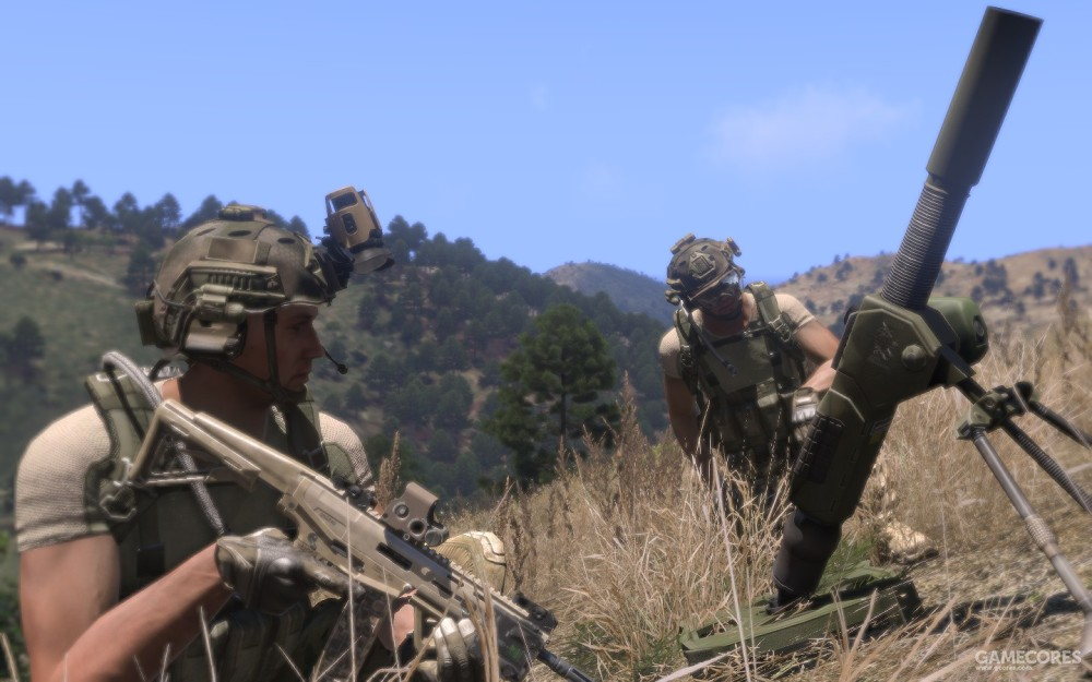 Mk6迫击炮等待发射