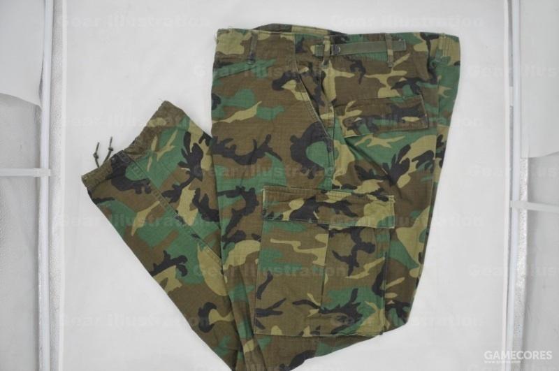 后期版迷彩裤子