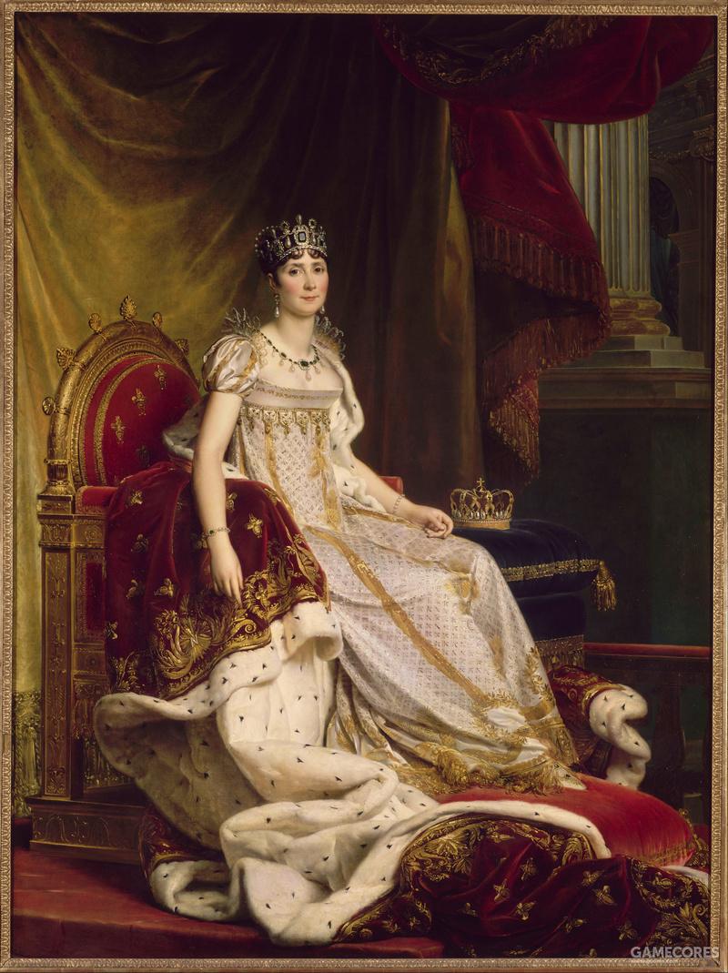 Joséphine en costume de sacre by Baron François Gérard, 1807-08