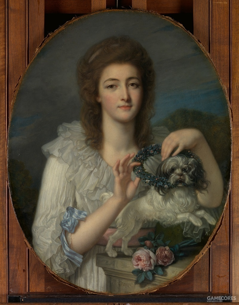 Princess Varvara Nikolaevna Gagarina (1762–1802) by Jean-Baptiste Greuze, c 1780-82