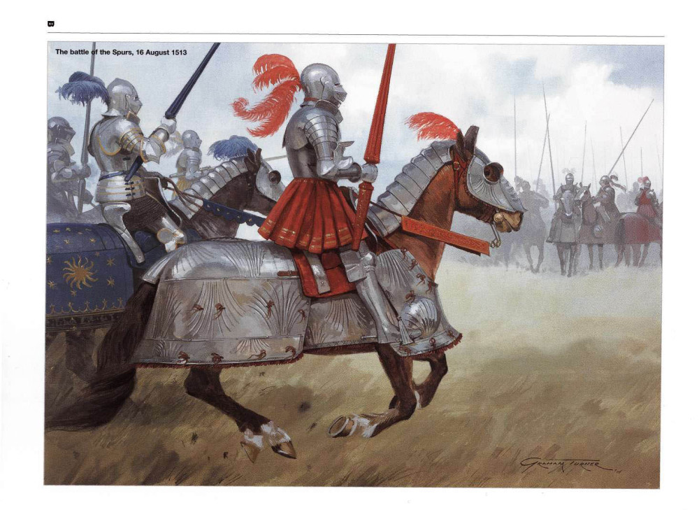 马刺之战中,英国骑士向法国骑士发起进攻