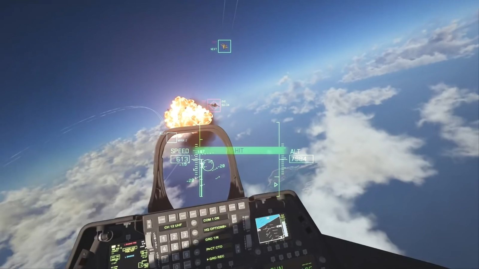 戴 VR 设备开战斗机是什么体验?《皇牌空战7》VR模式预告片公开