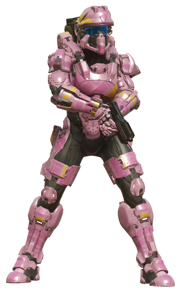 """因为官方示例图的颜色而被戏称为""""粉色马桶阀""""的Foehammer护甲"""