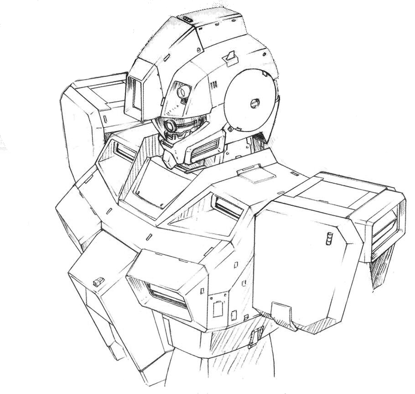 RGM-79G/GS的头部继承了月神2号惯用的设计。墨镜结构下是酷似吉翁系MS的单眼导轨传感器设计。单眼导轨传感器能以较低的技术成本实现更远的探测距离。不过代价就是其扫描频率方面略低于标准的阵列式传感器设计。机体肩部装甲部分增加了横向的姿势控制喷口以强化MS在左右方向上的机动性。躯干部分的散热结构继承了奥古斯塔系MS的双重复合式构造以满足功率更大的主核融合炉散热要求。