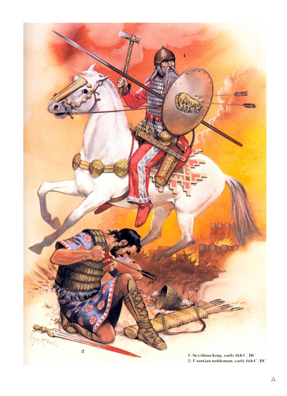 早期的斯基泰骑兵,他戴着的就是库班式头盔