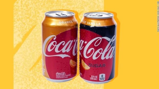 橙子香草味可口可乐本月上市,差不多是十年以来首次尝试的新口味