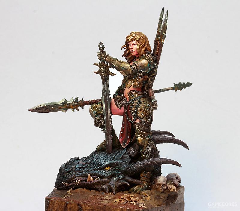 Dragon Huntress 75mm