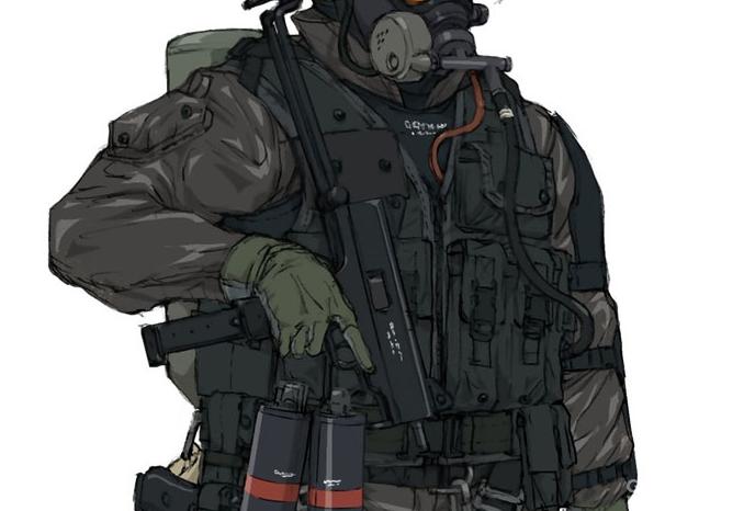 XOF士兵的战术背心设定