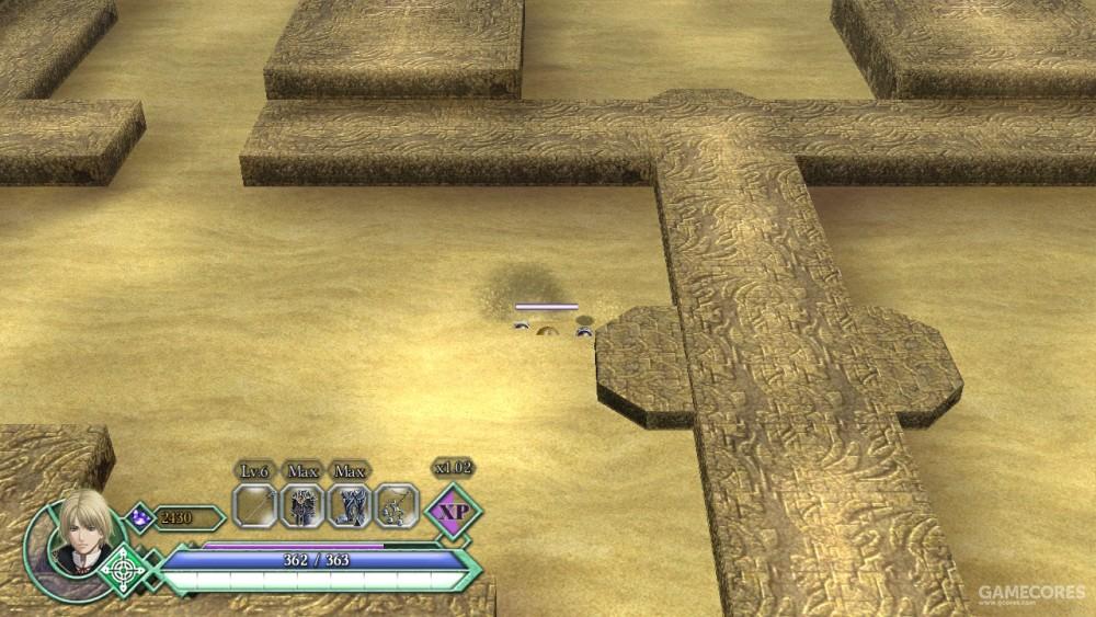 流沙会减低移动速度,甚至把人吞噬。