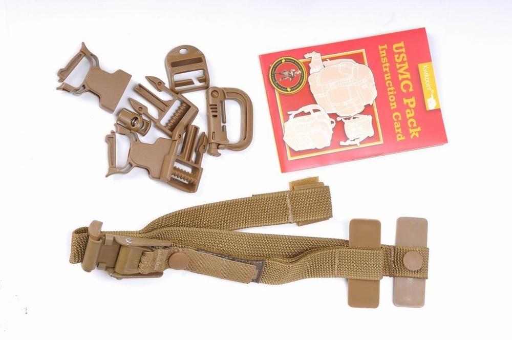 备用扣具、说明书和战术背心用肩带束带