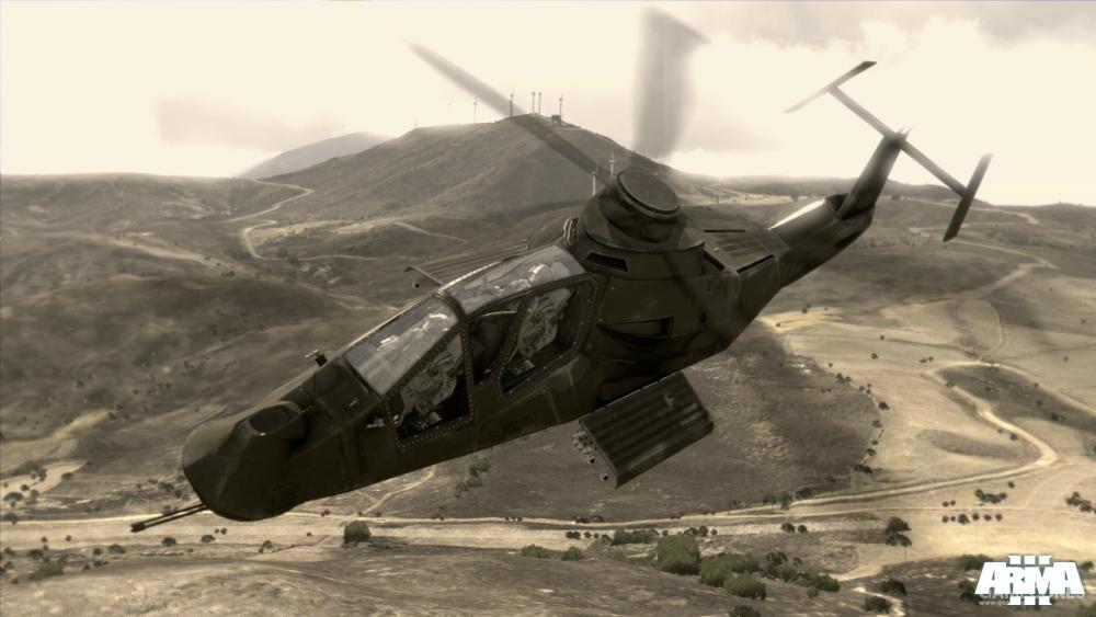 打开弹舱的AH-99