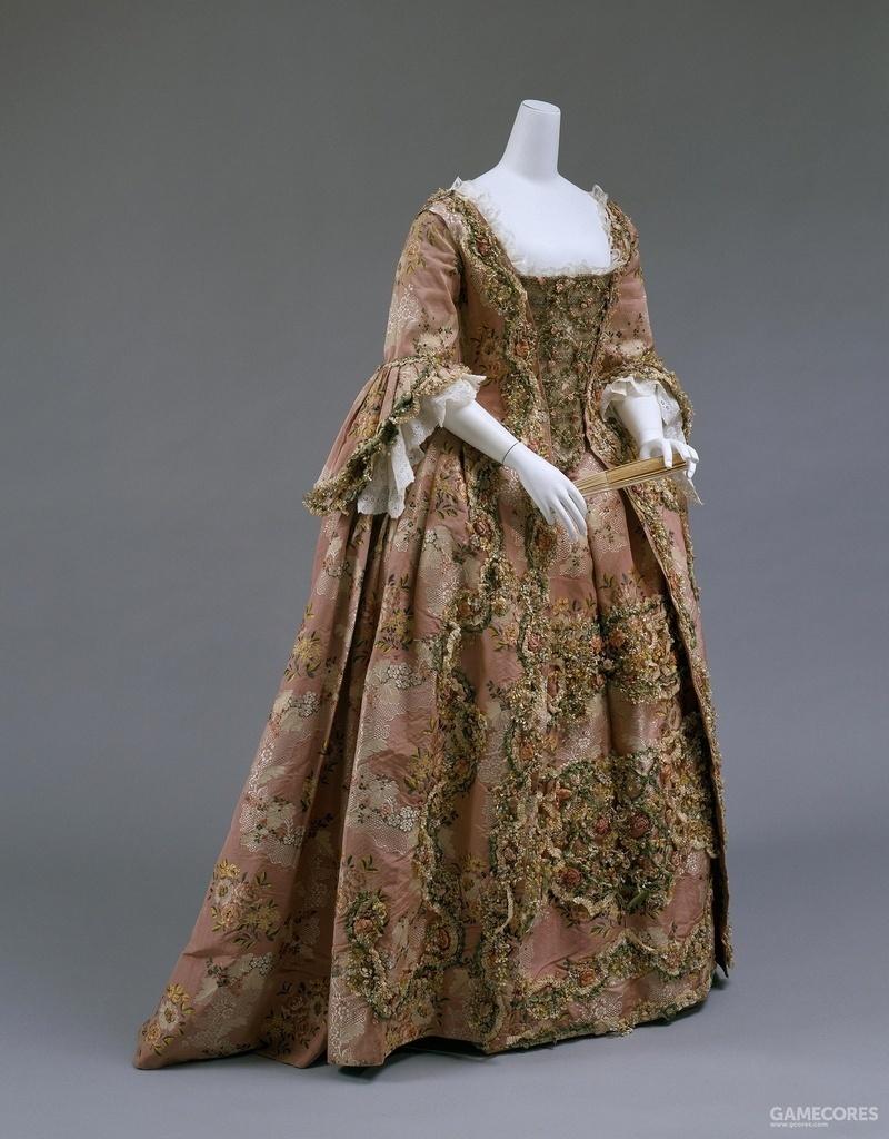 Robe à la Française, 1750-1770 (MET)