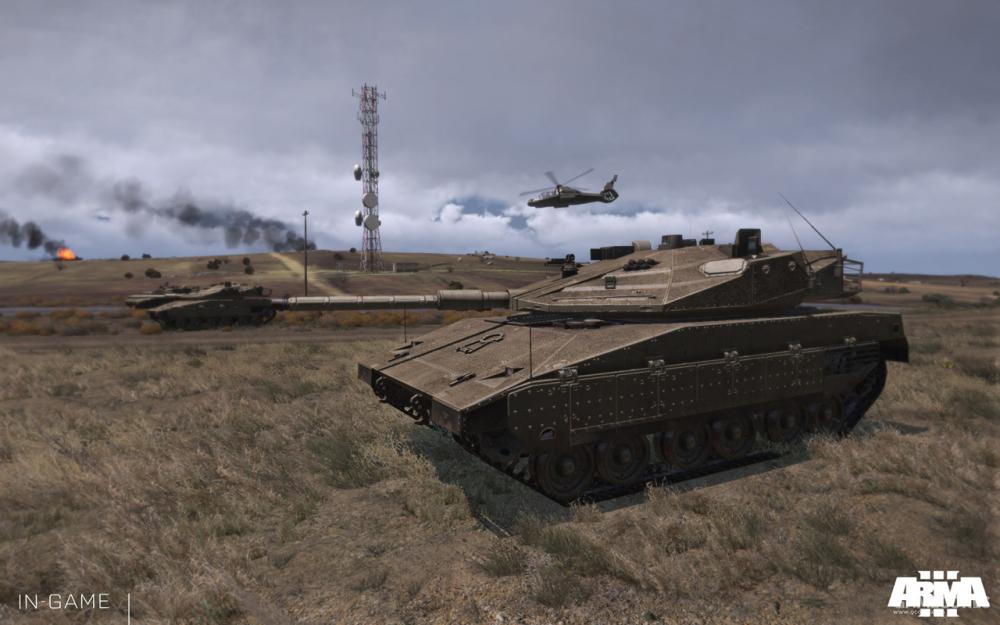 M2坦克集群正在突击中
