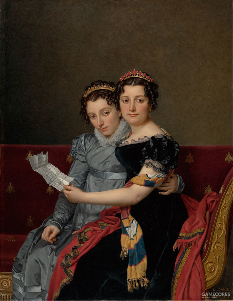 The Sisters Zénaïde and Charlotte Bonaparte by Jacques-Louis David, 1821