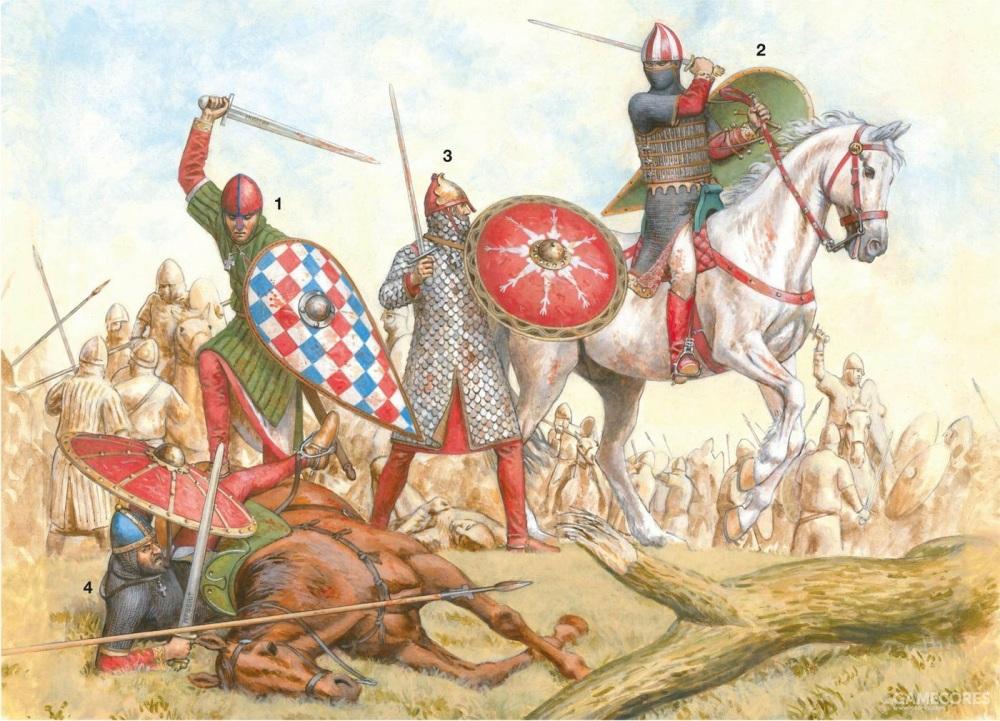 意大利的诺曼骑士们,最右的骑士就是吉斯卡尔