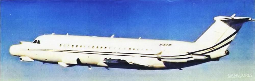 编号N162W的这架BAC-111是诺斯罗普最主要的空中试验平台,前后担任过多个型号航电系统的空中测试任务。