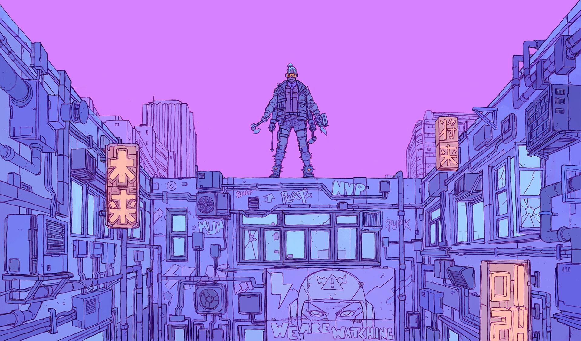 我們曾經推薦過的這位藝術家為《賽博朋克2077》繪製了封面插畫