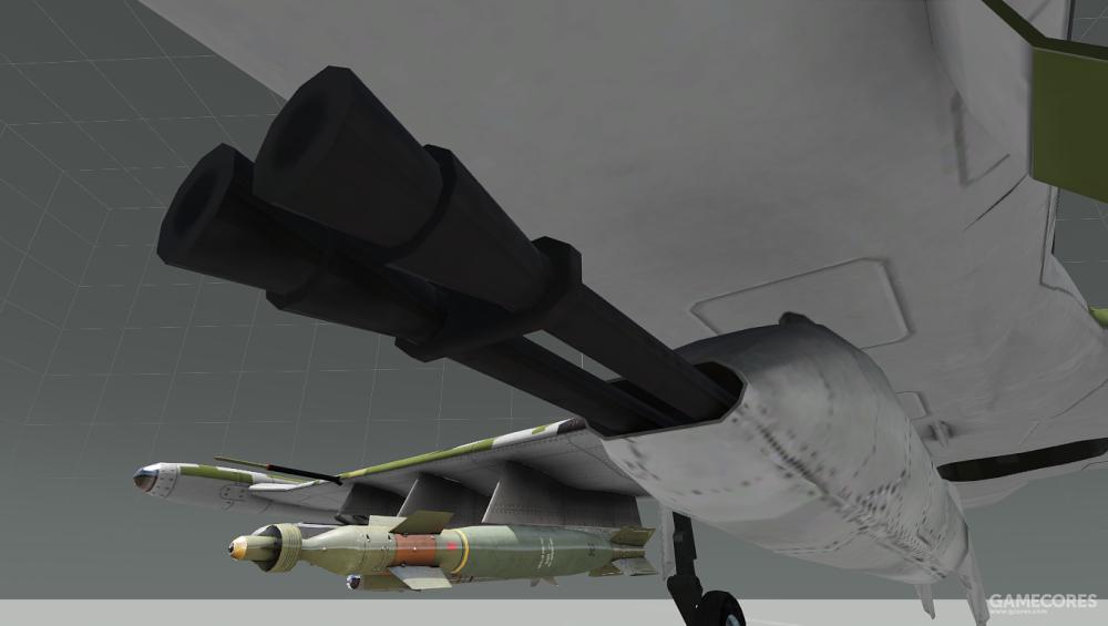 A-143的双联20mm火炮