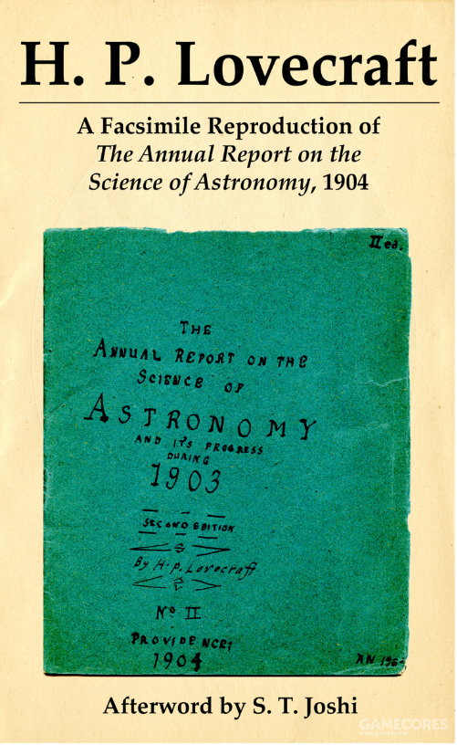 "Necronomicon出版社出版的""HPL天文学报告"",包含了一些HPL青少年时代的科学笔记"