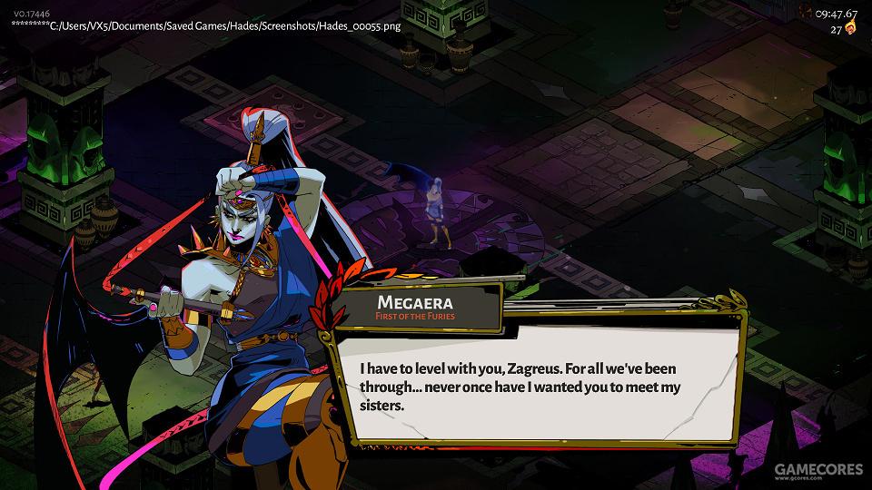 复仇女神墨纪拉。是玩家第一个遇上的大Boss,跟她的两个姐妹相比,只有嘴上凶