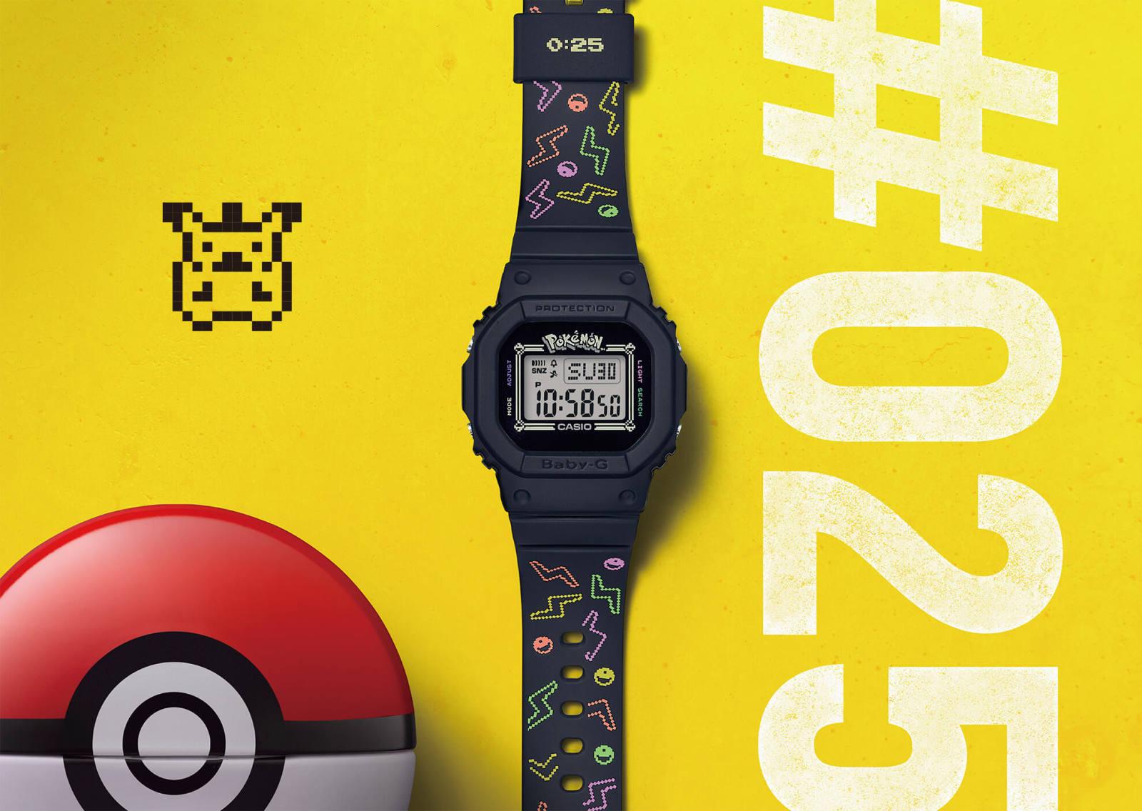 皮卡丘主题BABY-G腕表,爱了