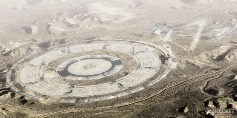 摄于1999年1月,已经竣工的巨石阵设施