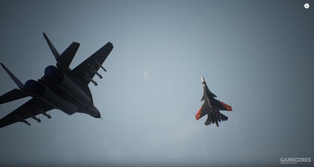 本代对方ACE机体——SU-30SM,注意翼尖使用橘红色的试验机涂装