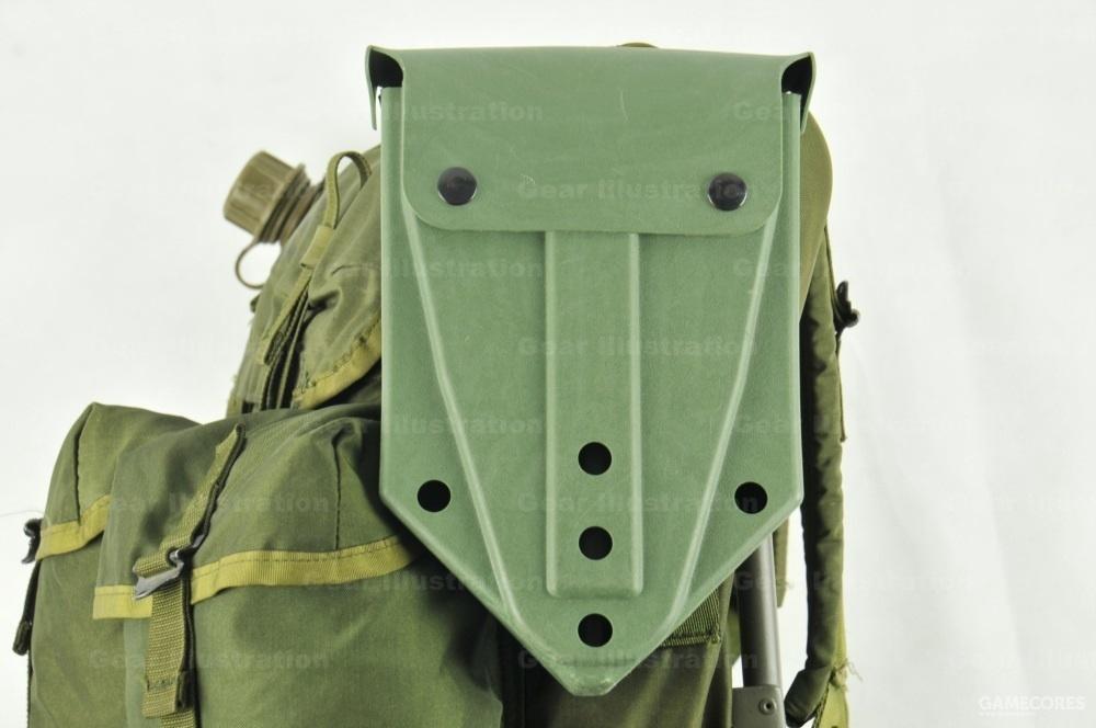 实际上很少将其挂在腰带上,一般是将其挂载背包侧面,平衡另一侧水壶的重量