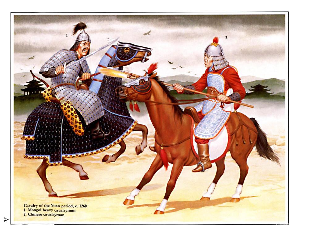 与蒙古甲胄骑兵战斗的南宋末期骑兵,马铠已经被抛弃了