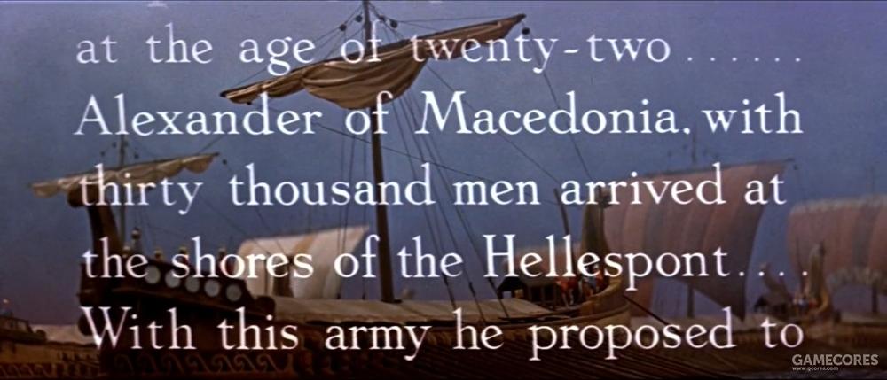 亚历山大调用了大量的桨船运送部队