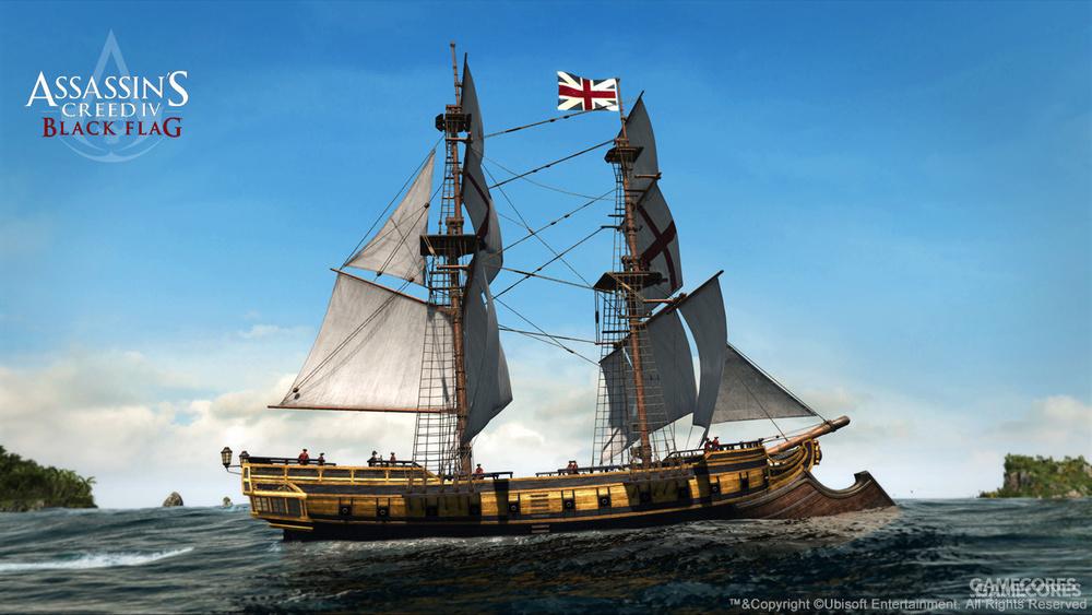 皇家海军的brig,游戏里放大了