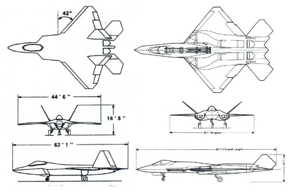 F-22 EMD是相对更接近传统设计的战斗机,而F-23A EMD则导入了更多非传统的设计概念与技术。
