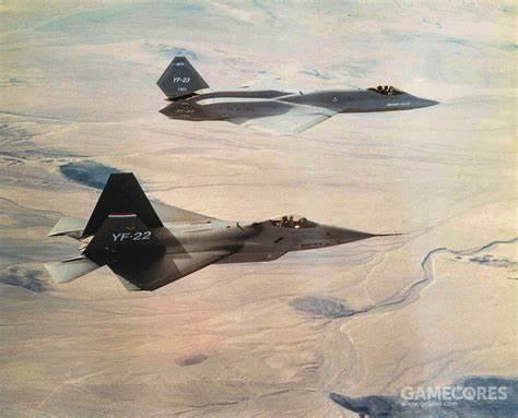 1990年11月29日,YF-22 PAV-1与YF-23 PAV-2进行了两个机型唯一一次编队飞行。两架PAV原型机都是搭载YF120发动机的版本。