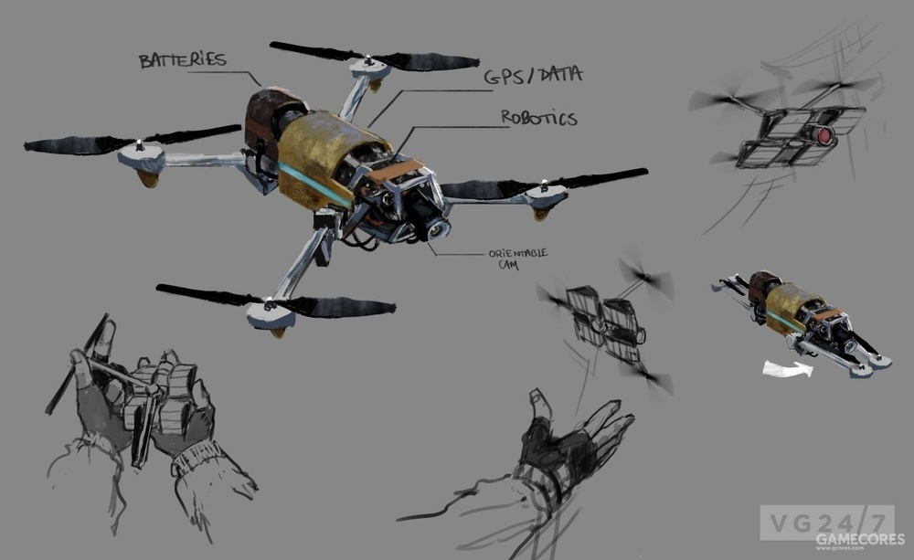 荒野中的无人机概念设计