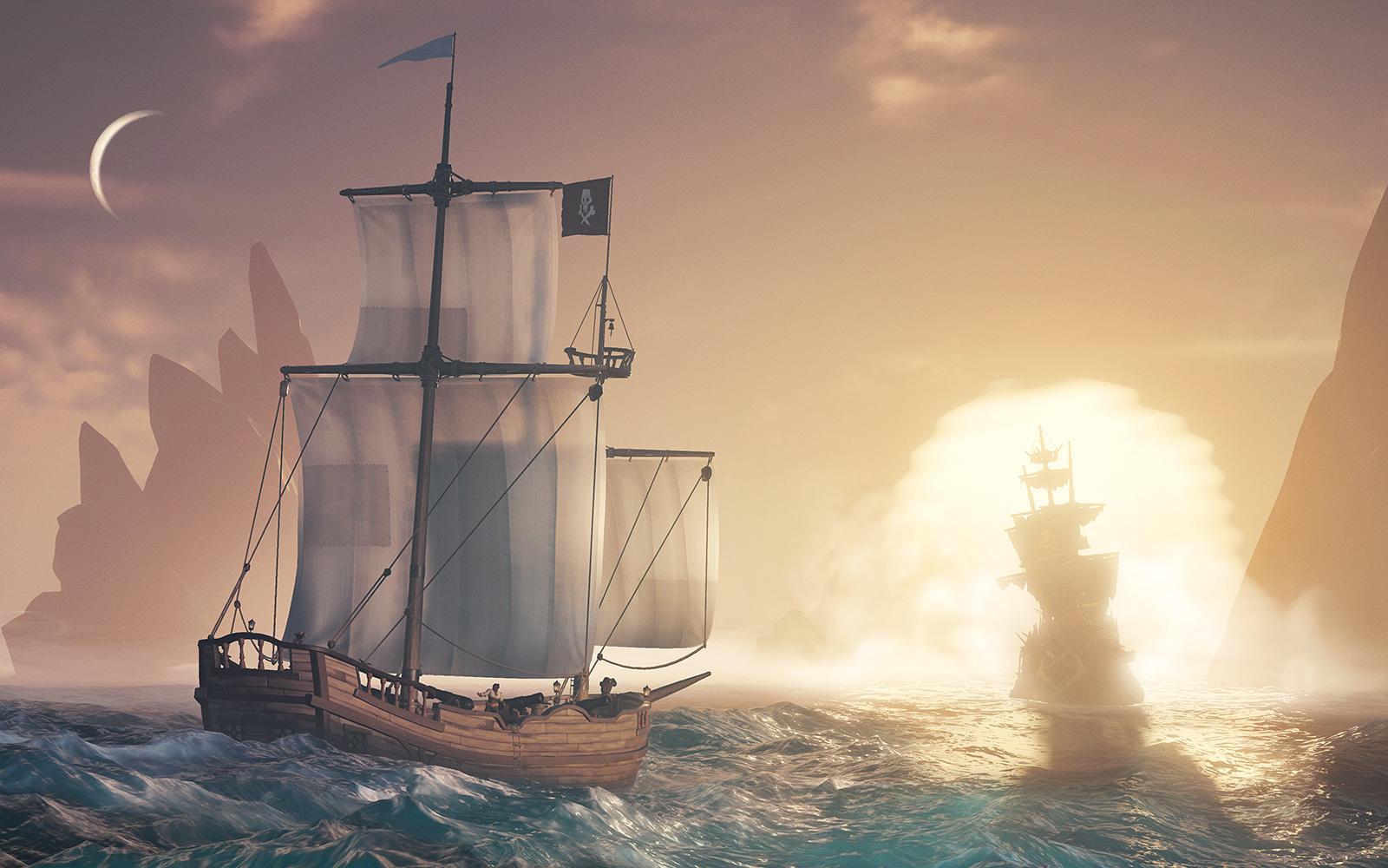 幽靈船和新船型,《盜賊之海》7月底上線Cursed Sails更新