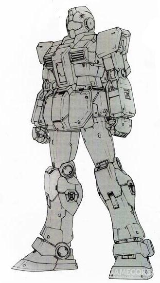 RGM-79FD的附加装甲可以完全卸除以方便维护。