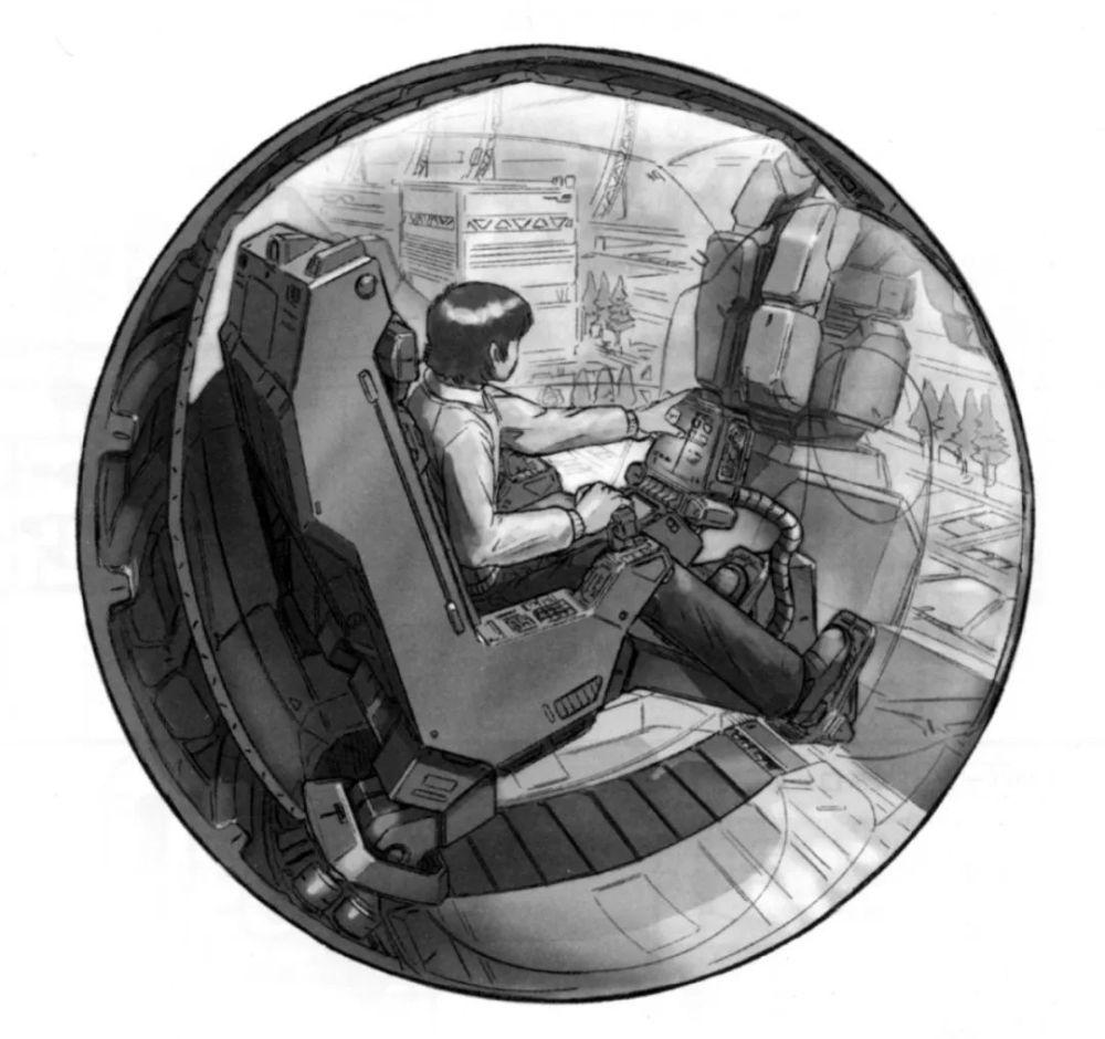 全周天显示器和线性座椅最初都是一年战争末期的RX-78NT-1上最初应用的技术。全周天显示器能够为驾驶员呈现更加广阔的视野,有助于提升驾驶员的反应速度。线性座椅则能够大幅减缓驾驶员承受的过载,因此能有效提升MS的实用过载。由于方案冻结时间较早,RX-178的驾驶舱并非日后地球联邦军的标准化球形驾驶舱,而是一个近似的球形。
