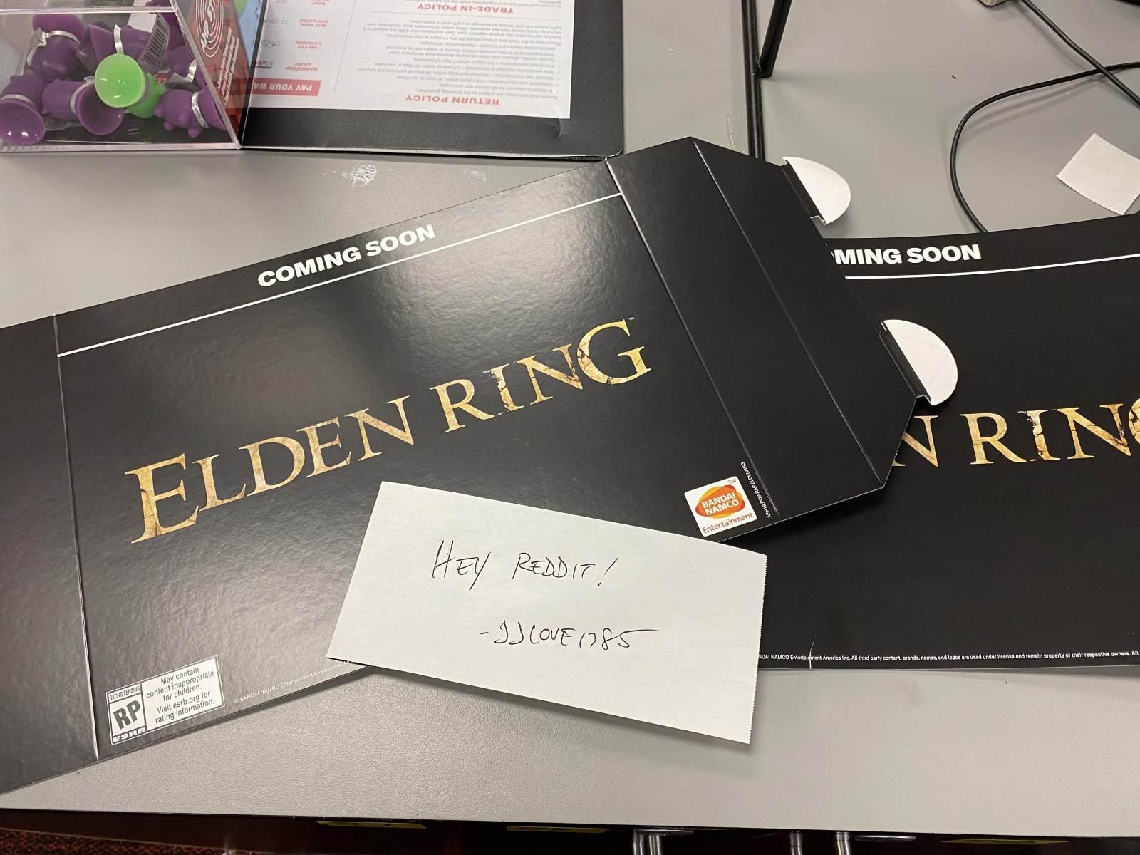疑似《Elden Ring》宣传物料被Reddit用户发了出来