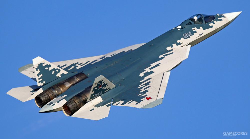 飞行中的苏-57