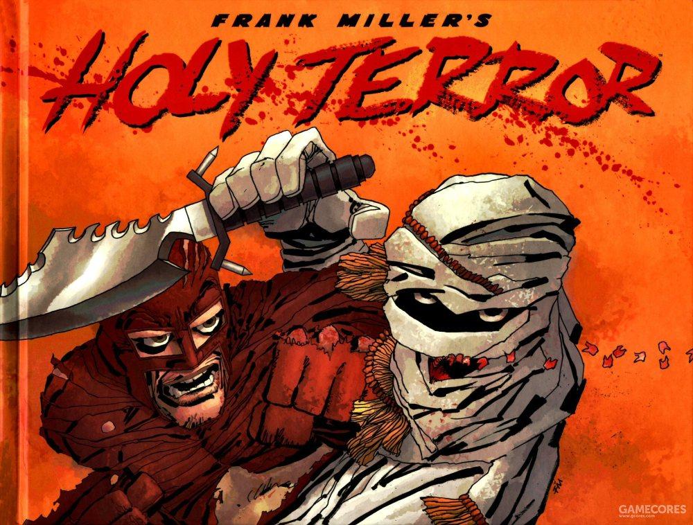 "Holy取自蝙蝠侠66版电视剧里的""holy batman"",而Terror取自""恐怖主义"",这是米勒对书名的解释"