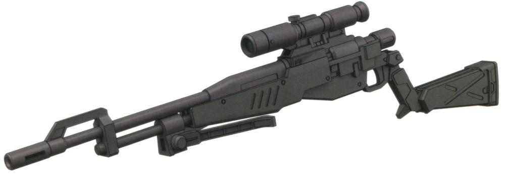 该型狙击枪作为试验型武器,只有少量生产,并且具体样式存在细微变化。尽管精度和威力的表现都非常惊人,但是由于该武器的上弹完全依赖MS双手动作完成,因此控制程序编写极其麻烦。除了部分RGM-79SP外,没有其他MS装备这种过于复杂的武器。
