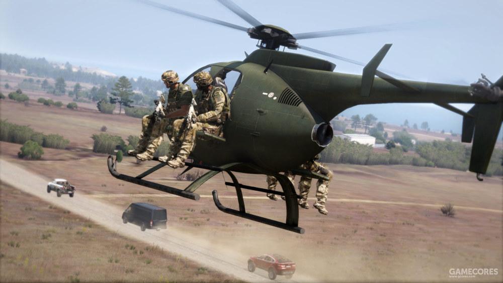 搭载全部人员的MH-9