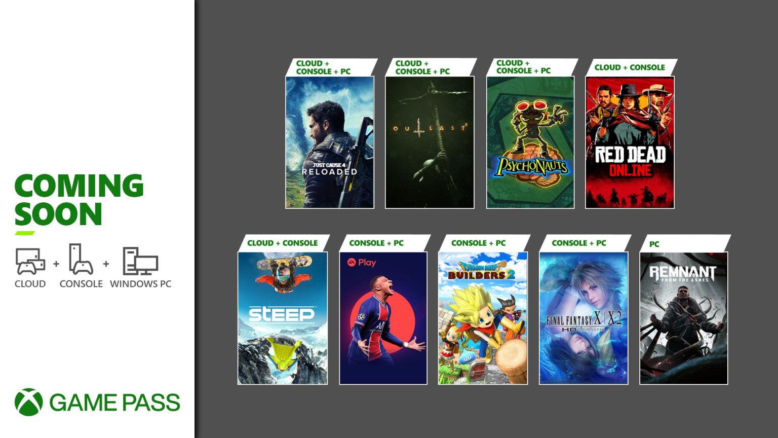 XGP五月游戏更新,《勇者斗恶龙:创世小玩家2》、《FIFA 21》共9款游戏登陆