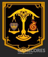 乌尔达哈的旗帜是黑底上的金色天平,天平的两侧分别有象征财富的宝石和象征力量的火焰,这也代表了乌尔达哈的价值观:财富和力量的持平