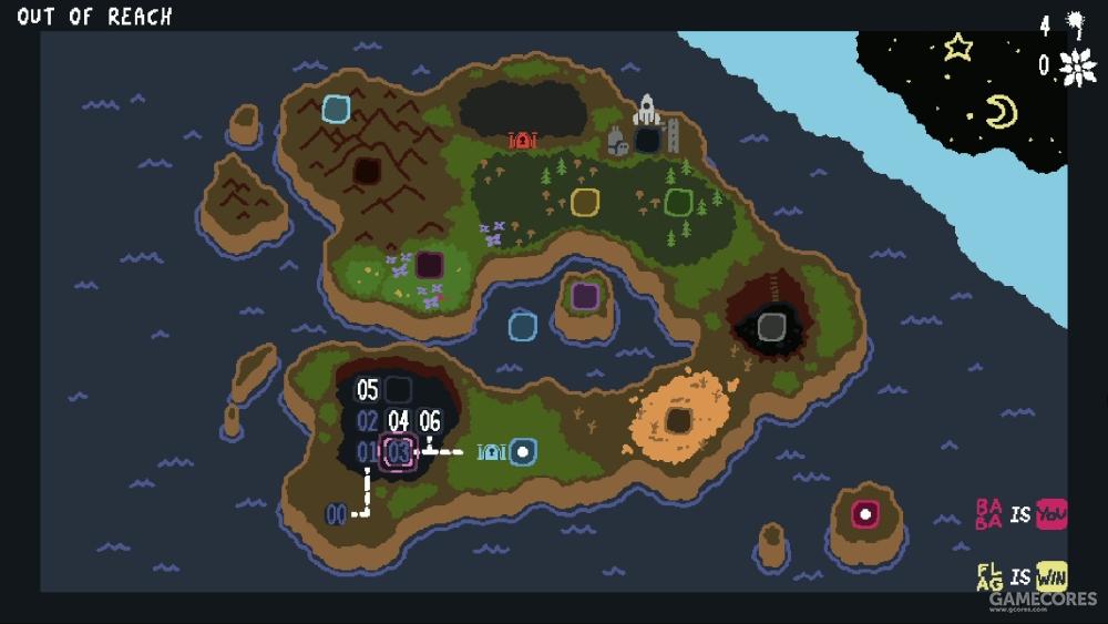 干净的大地图分为了不同主题的区域