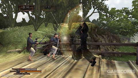 战斗也很硬派,收集武士刀是主要玩点。