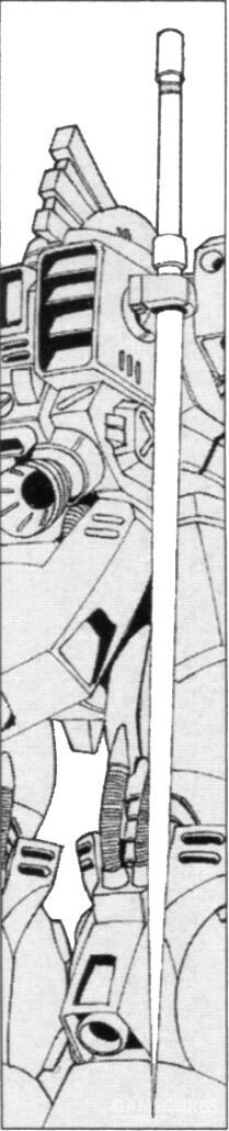 格斗武器选择上,MS-06R-3非常意外的选择了Zimmad产电热剑。除了MS-09系列外,该机是少有的配备这种格斗武器的MS。